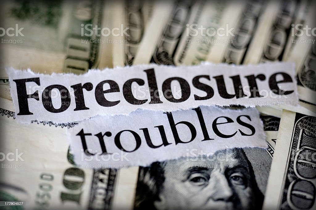 foreclosures stock photo