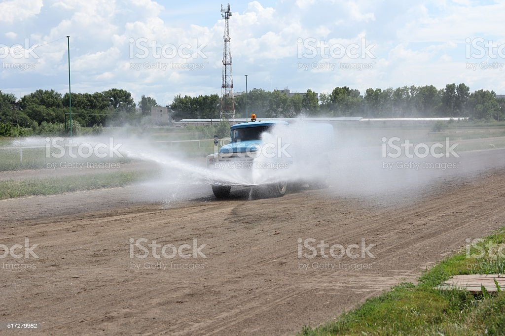 foreground of a cleaning machine for water spray stock photo