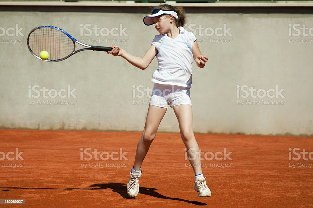 Forehand point of contact royalty-free stock photo