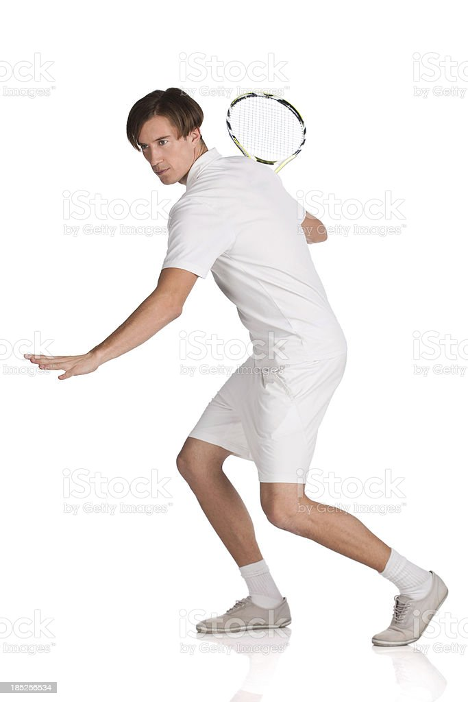 Forehand shot royalty-free stock photo