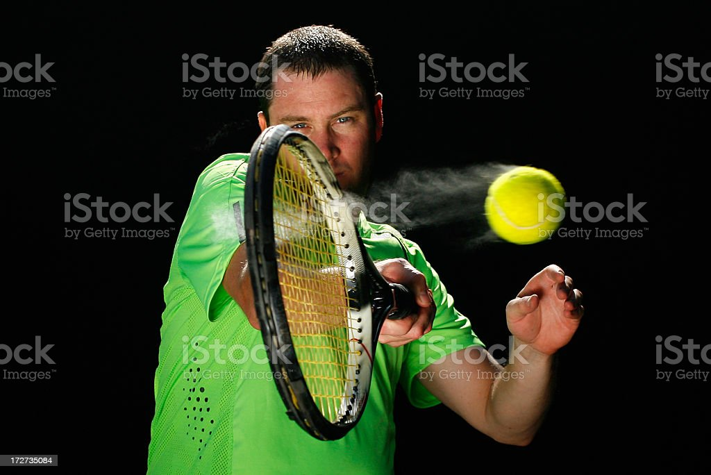 Forehand Tennis Action stock photo
