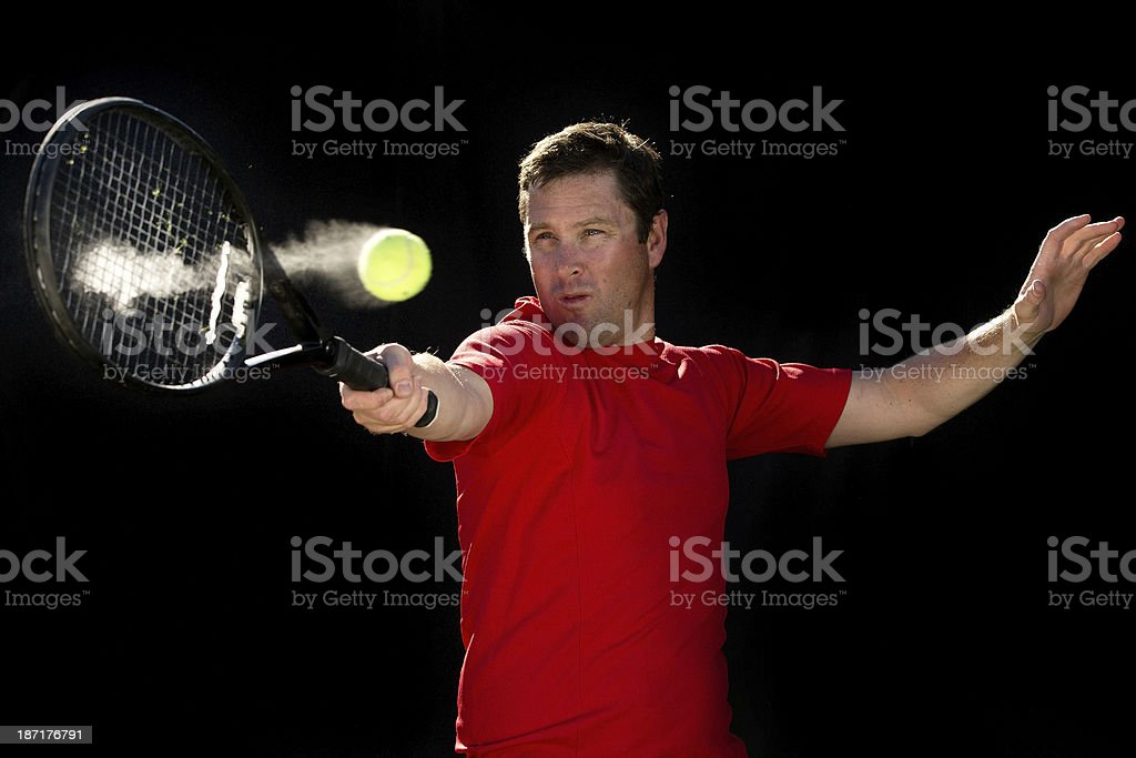 Forehand Tennis Action royalty-free stock photo