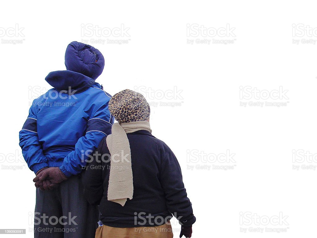 Foreign couple royalty-free stock photo