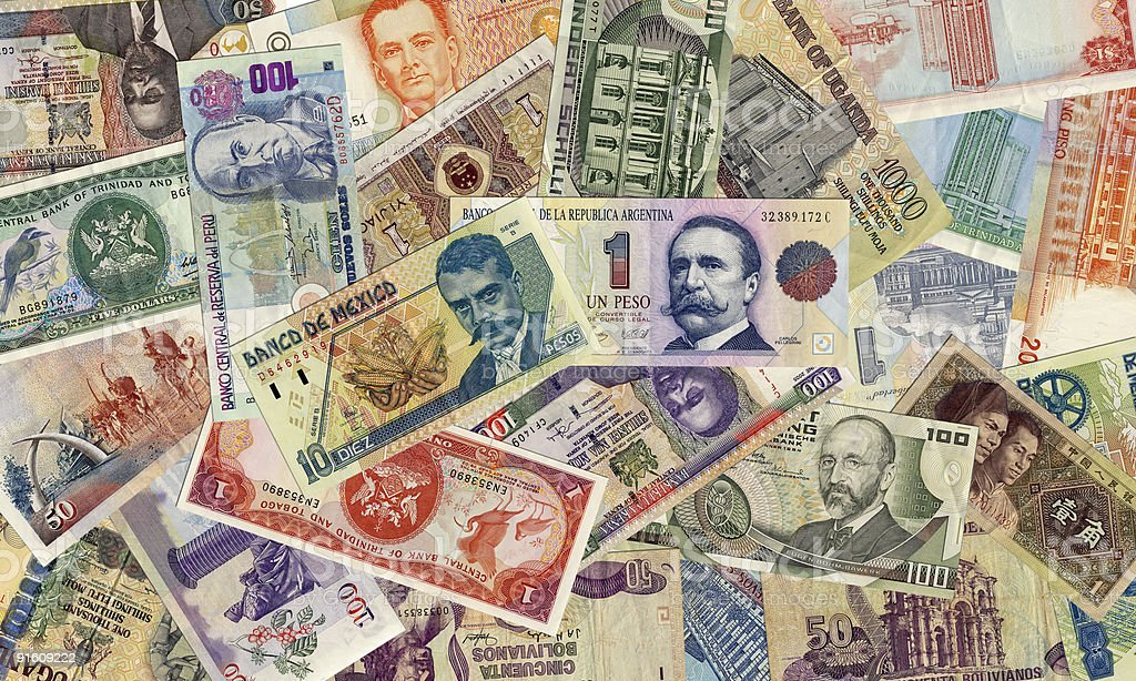 Foreign Currency 2 stock photo