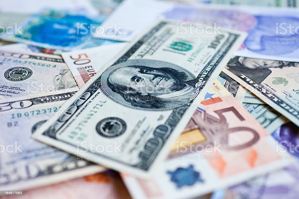 Foreign currency royalty-free stock photo