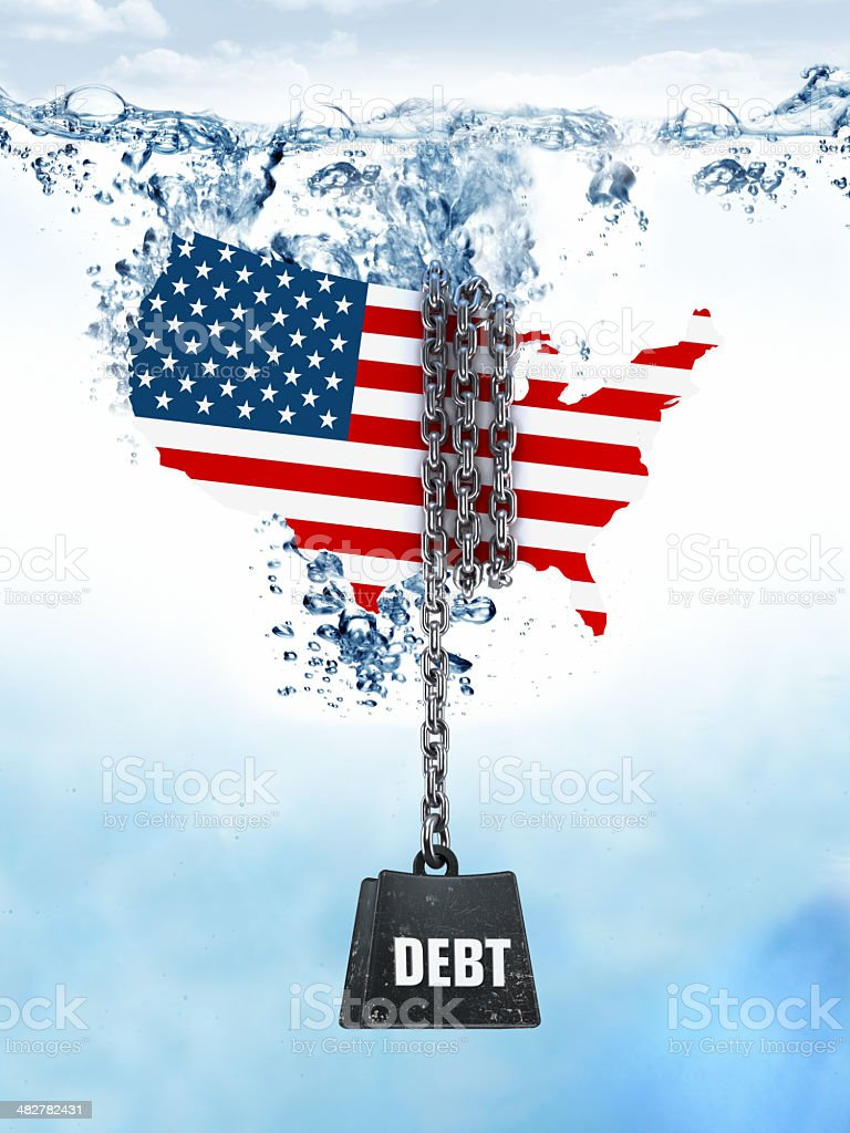 USA - foreign debts stock photo
