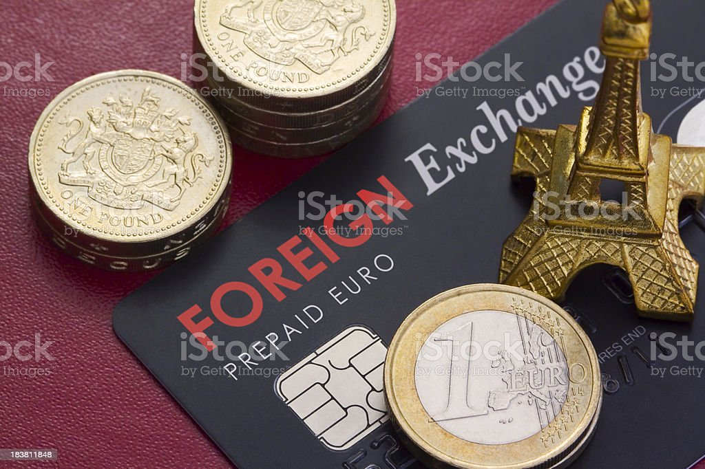 Foreign Exchange Card stock photo