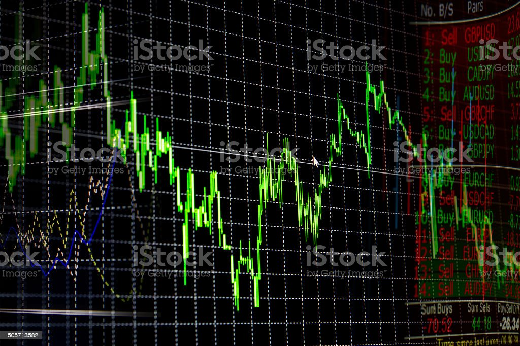 Foreign exchange market chart stock photo