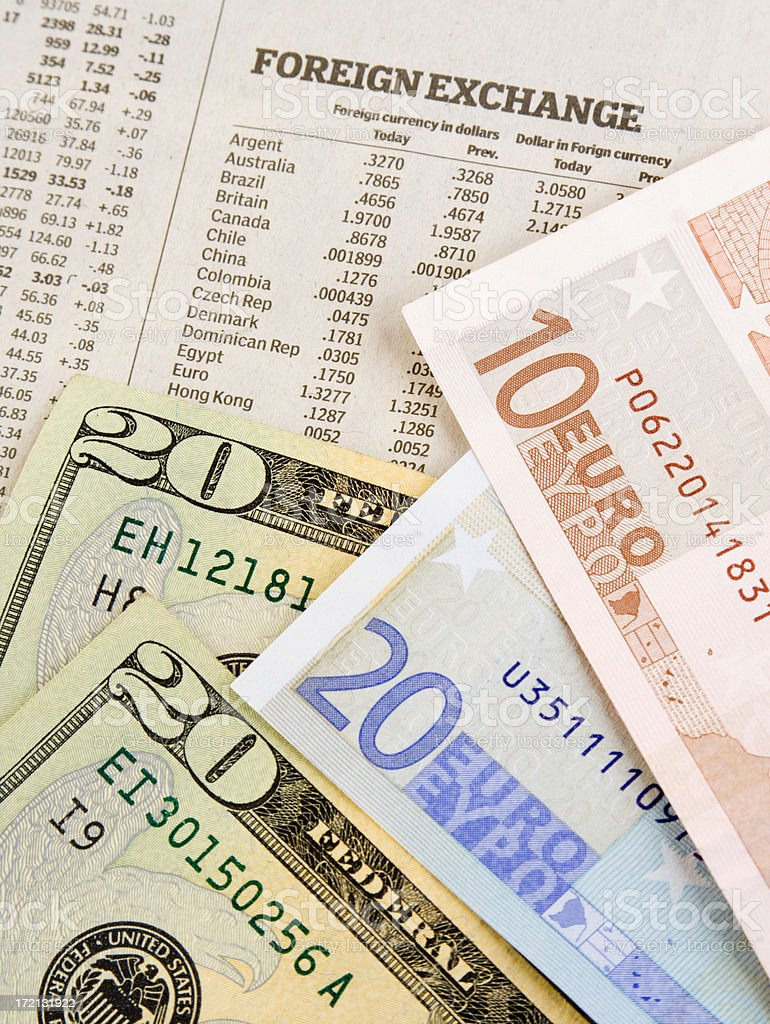 Foreign Exchange Rate Vt stock photo