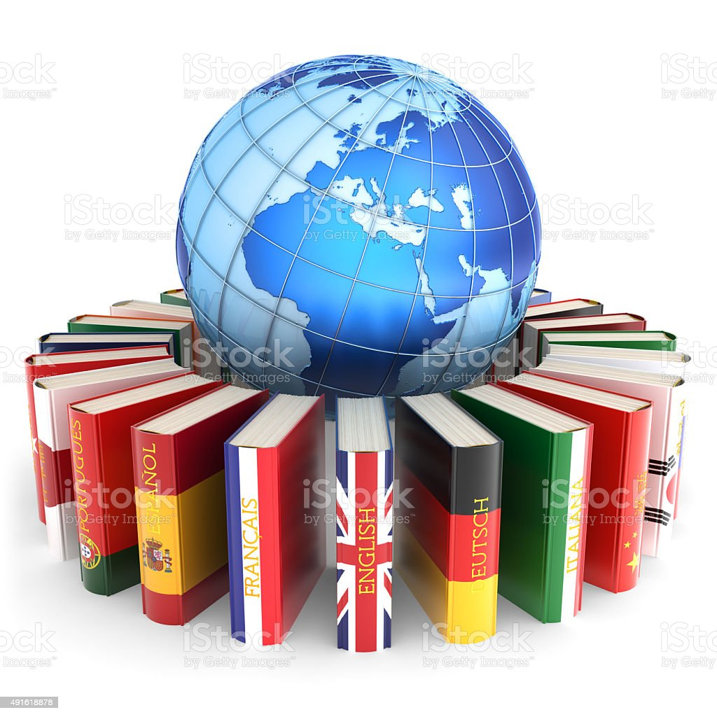 Foreign languages learn and translate education concept stock photo