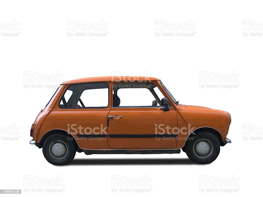 Foreign made small classic car stock photo