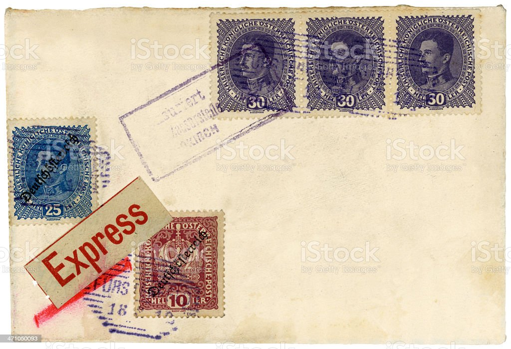 Foreign Mail - Vintage Letter royalty-free stock photo