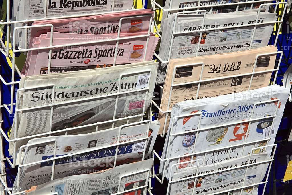 Foreign Newspapers royalty-free stock photo