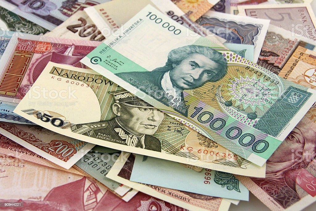 Foreign Paper Money royalty-free stock photo