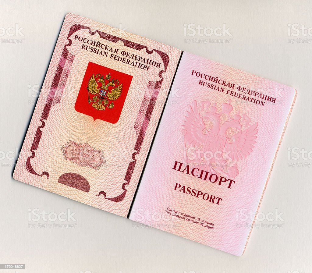 Foreign passport (2009) stock photo