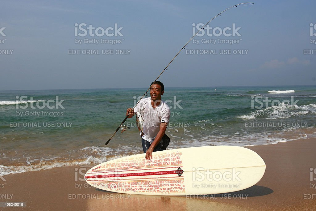 Foreign Surfer royalty-free stock photo