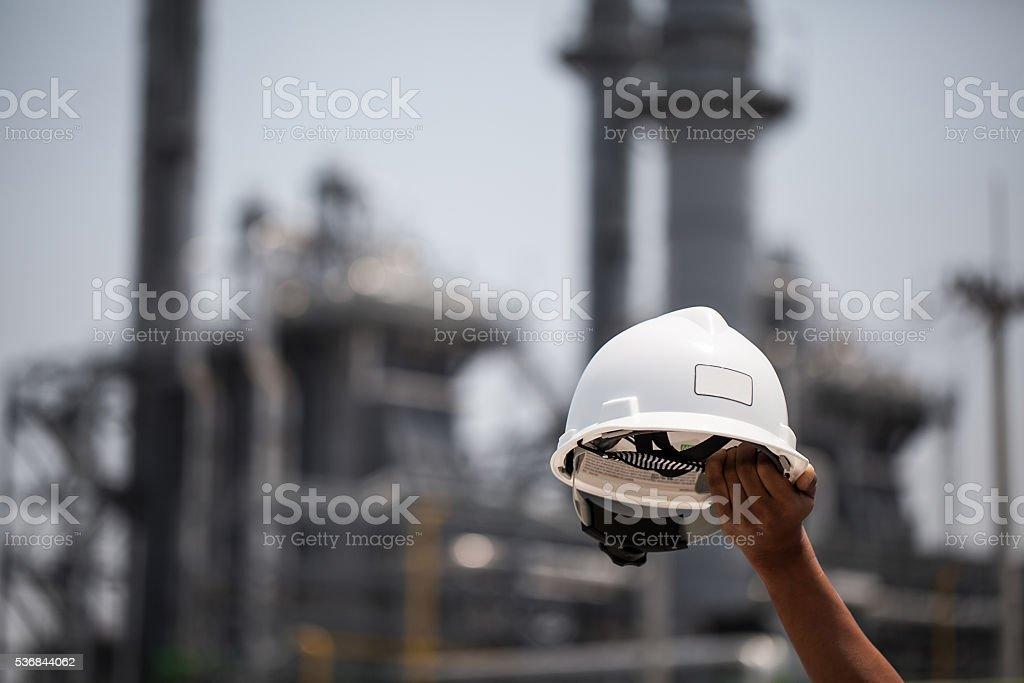 foreman helmet stock photo