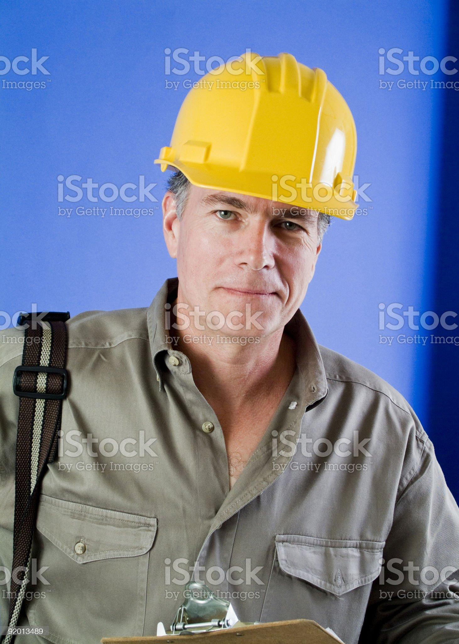 Foreman on the Job royalty-free stock photo