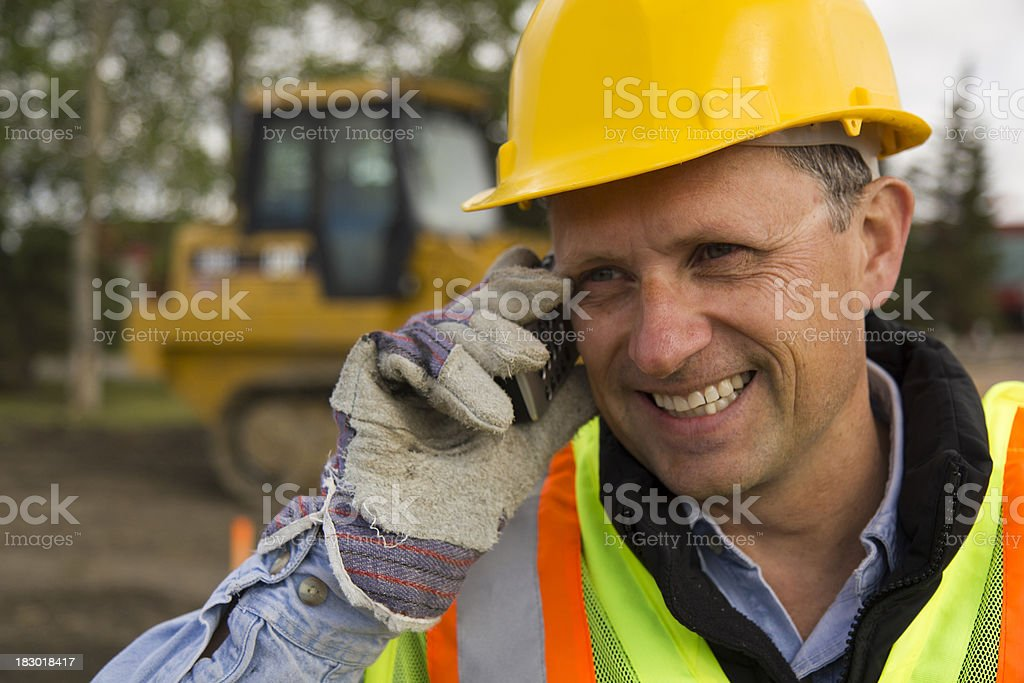 Foreman on the Phone royalty-free stock photo