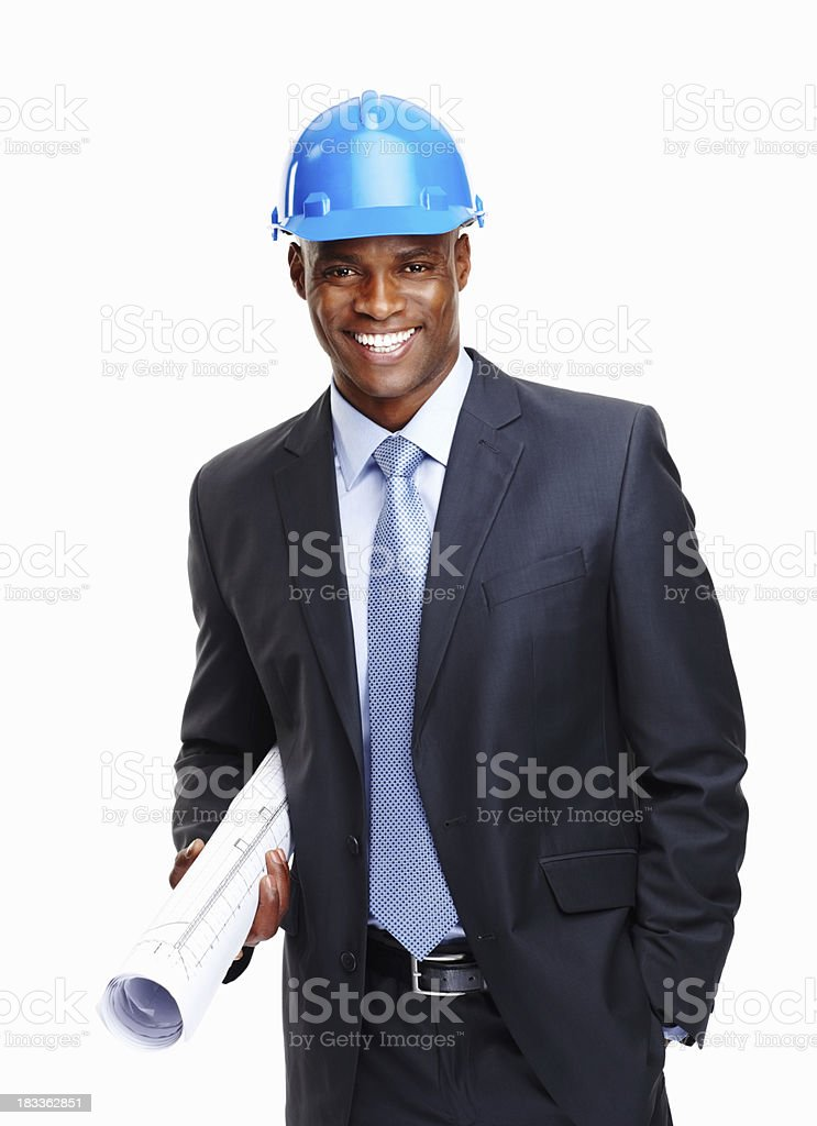 Foreman ready to visit construction site royalty-free stock photo