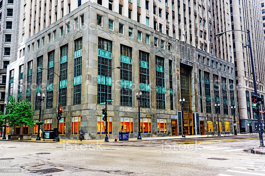 Foreman State National Bank Building, Chicago royalty-free stock photo
