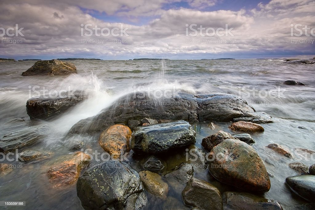 Forenoon seascape royalty-free stock photo