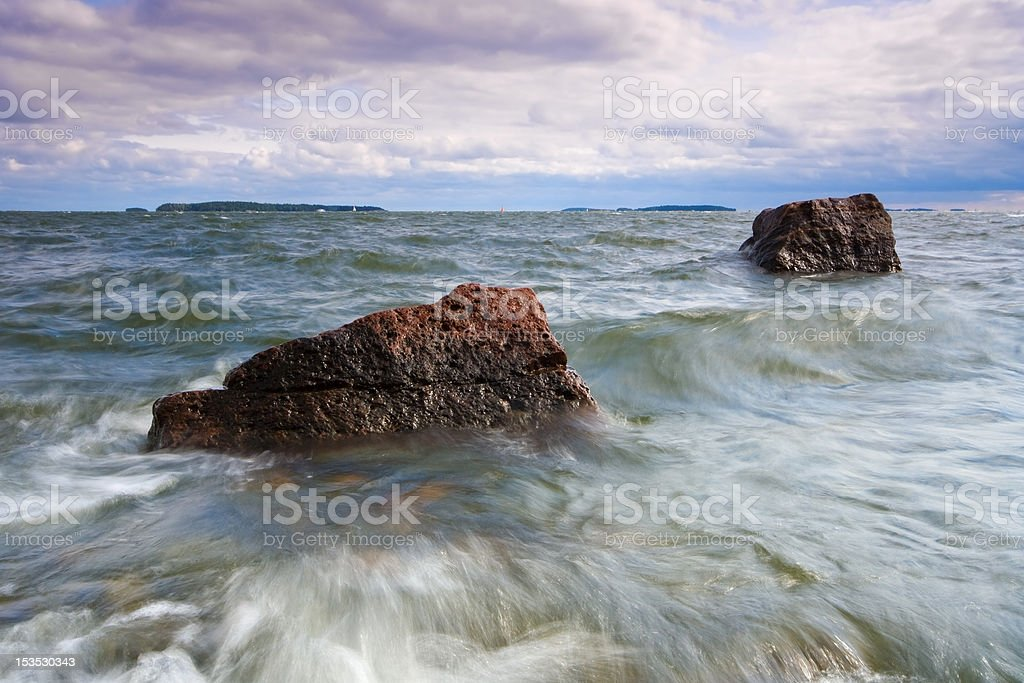 Forenoon summer seascape royalty-free stock photo