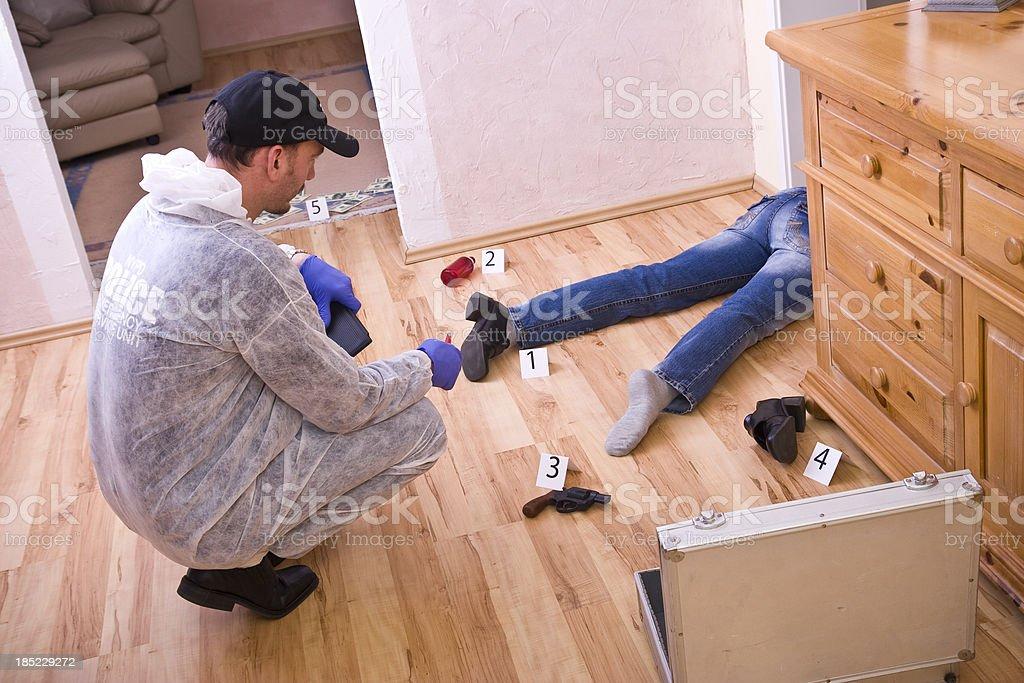 Forensic Murder Ivestigation stock photo