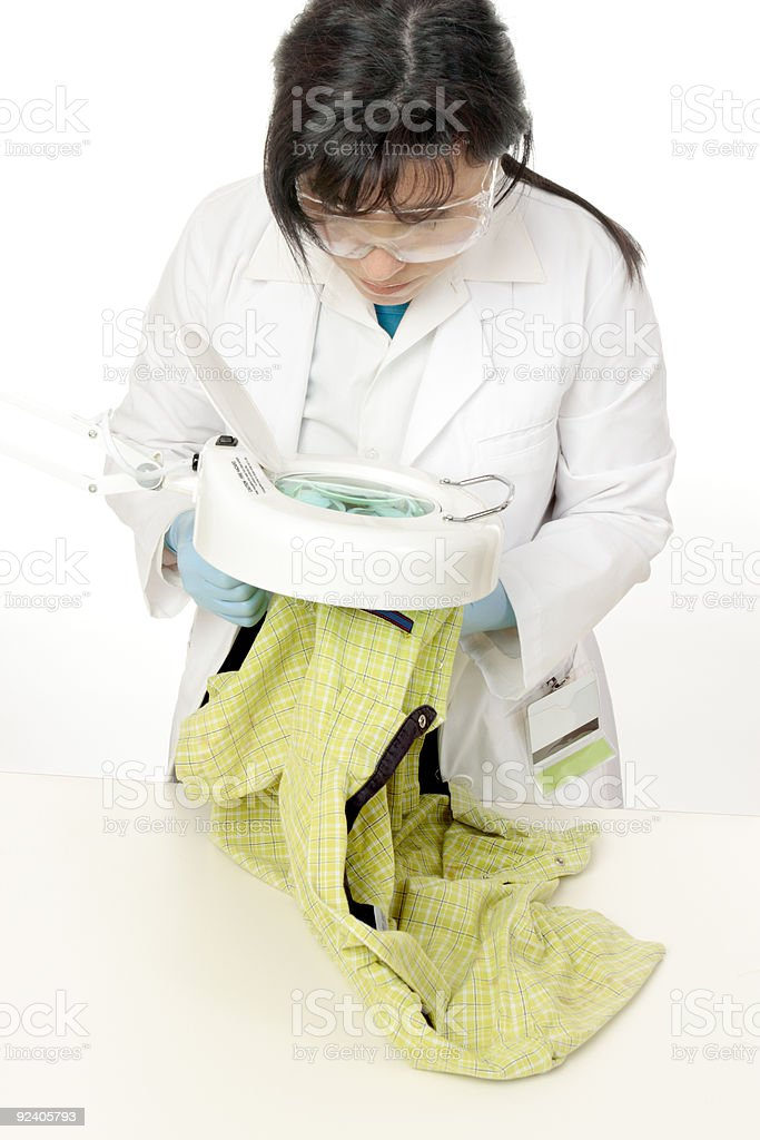 Forensic scientist stock photo