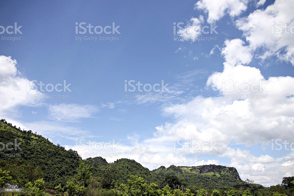Forest and blue sky views. royalty-free stock photo