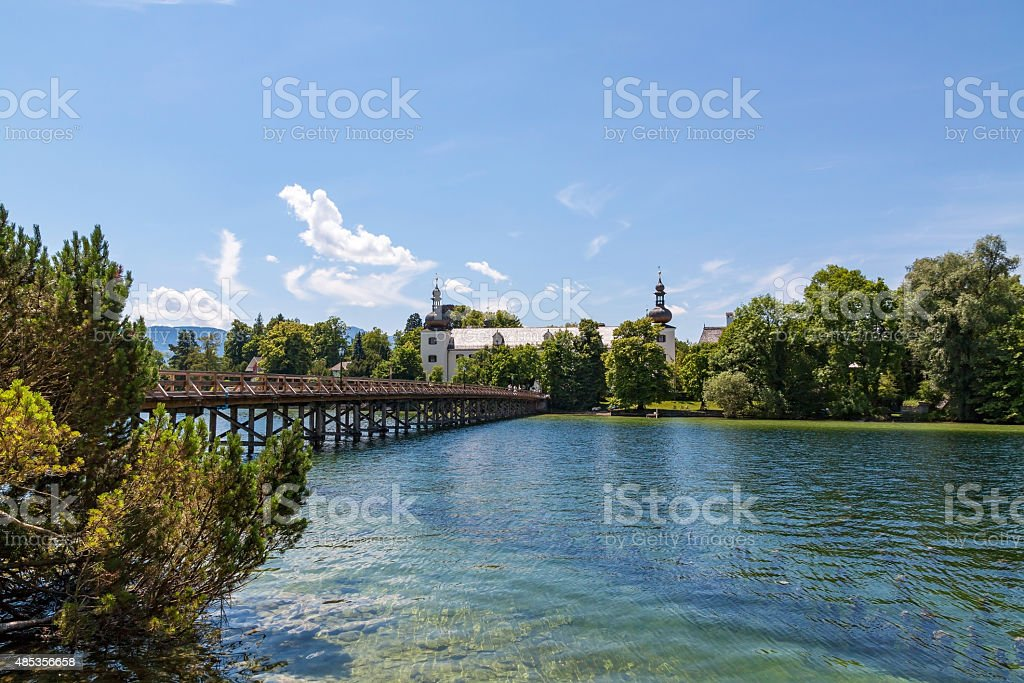 Forest and Wood Management educational institution, Gmunden stock photo
