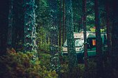 RV Forest Camping