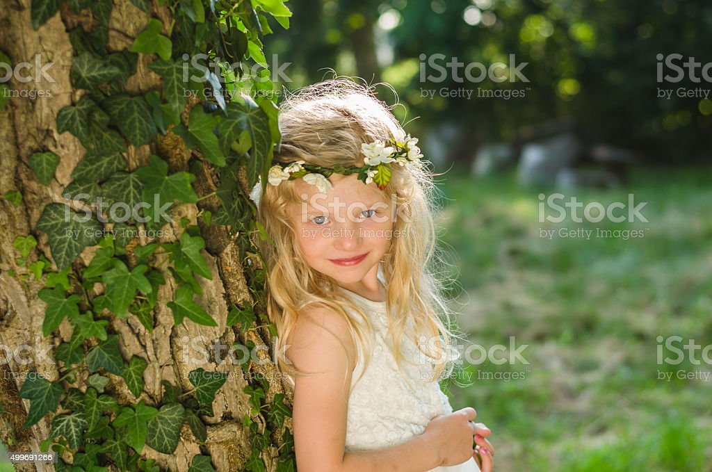 forest fairy stock photo