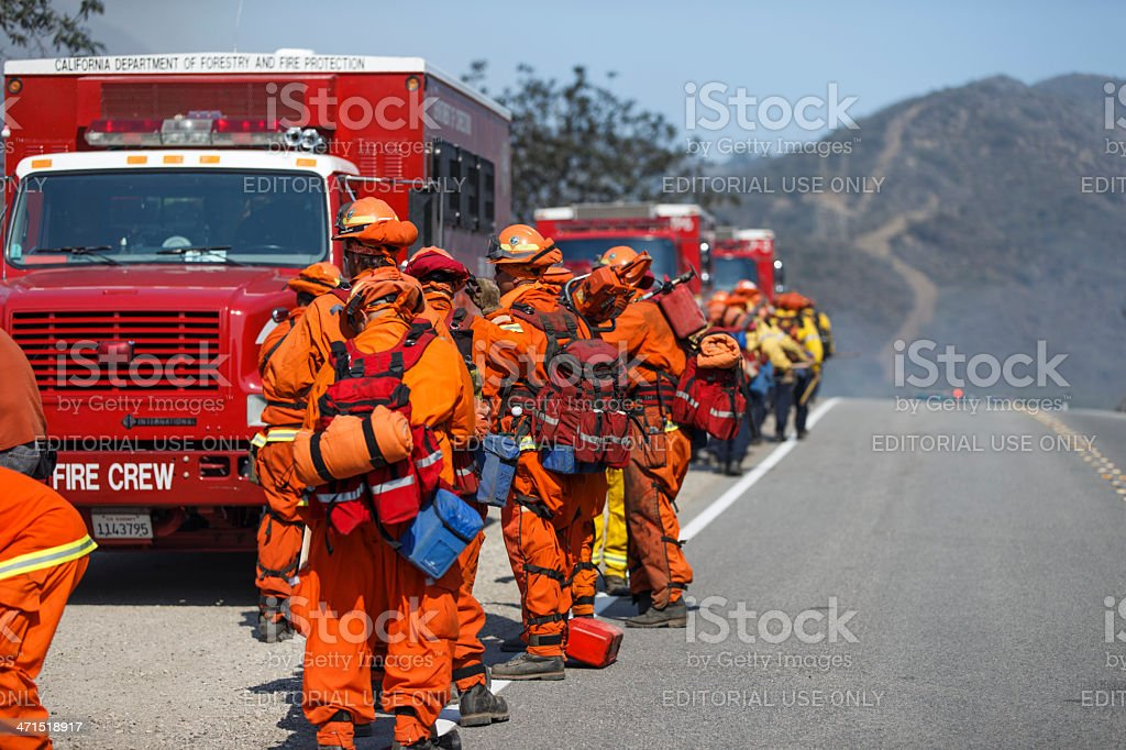 Forest Fire - Camarillo Springs, California 5-2-2013 royalty-free stock photo