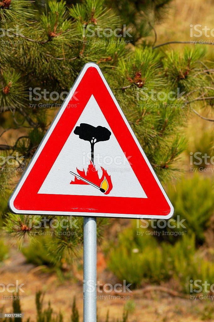 Forest Fire Hazard stock photo
