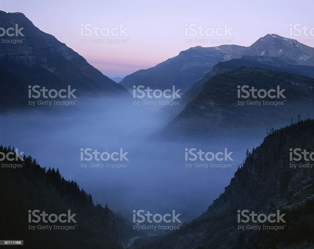 Forest Fire Smoke royalty-free stock photo