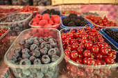 Forest fruits on the market