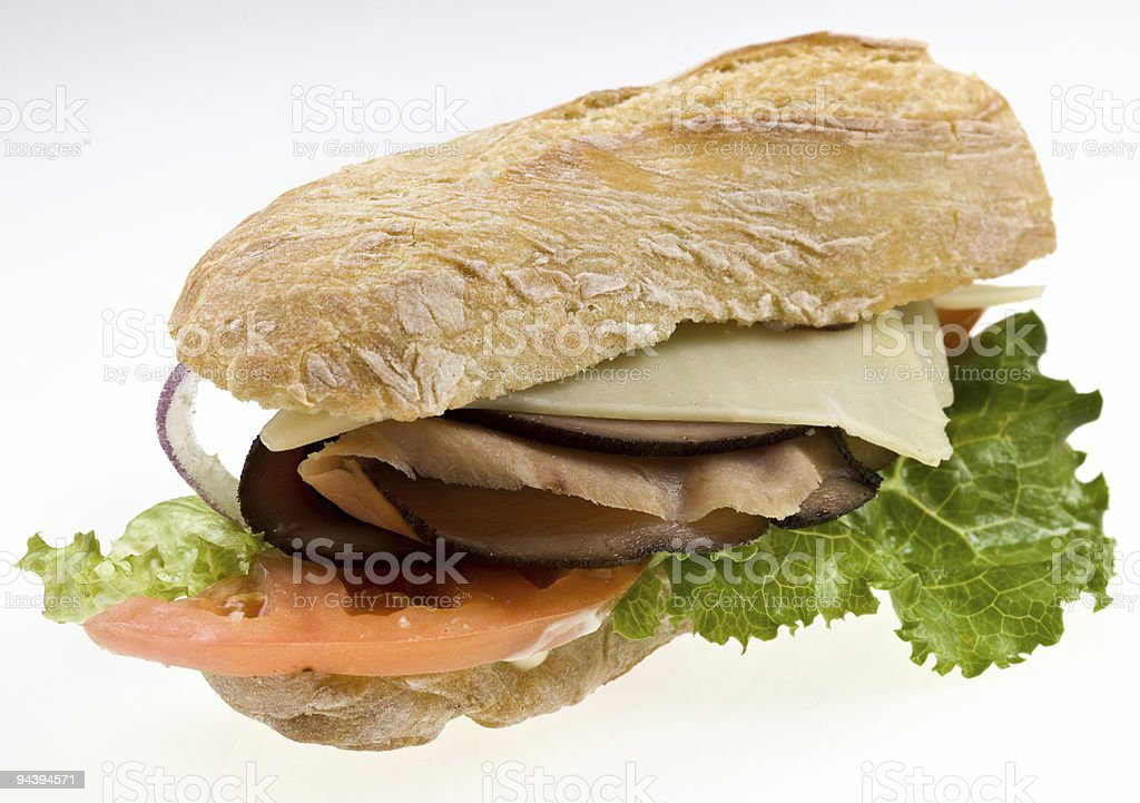 forest ham and cheese sandwich royalty-free stock photo