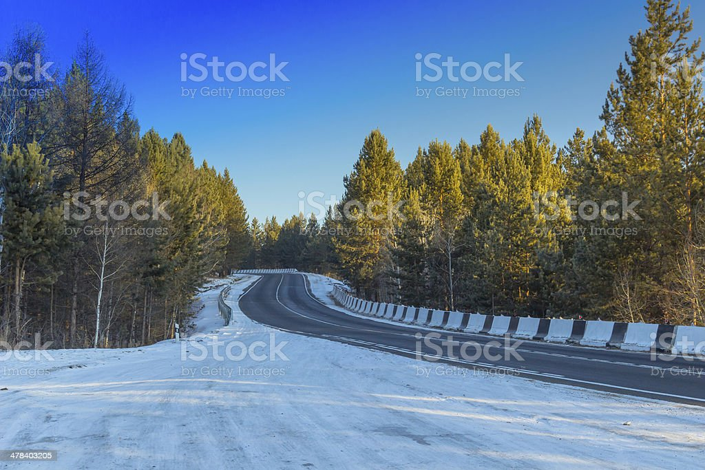 Forest Highway stock photo