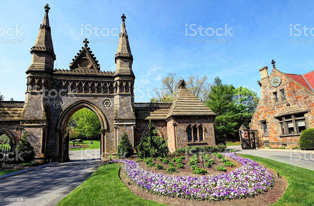 Forest Hills Cemetery Boston stock photo