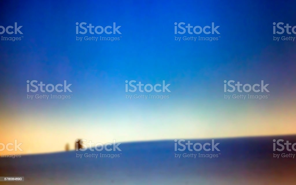 forest in winter, dawn stock photo