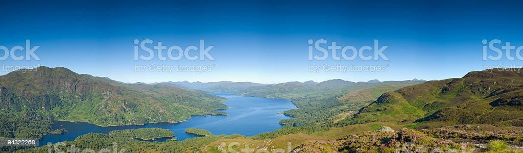 Forest, lake, mountain, sky royalty-free stock photo