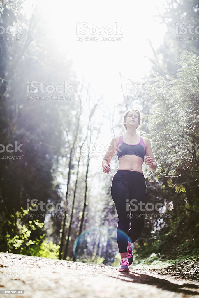 Forest Park Run royalty-free stock photo