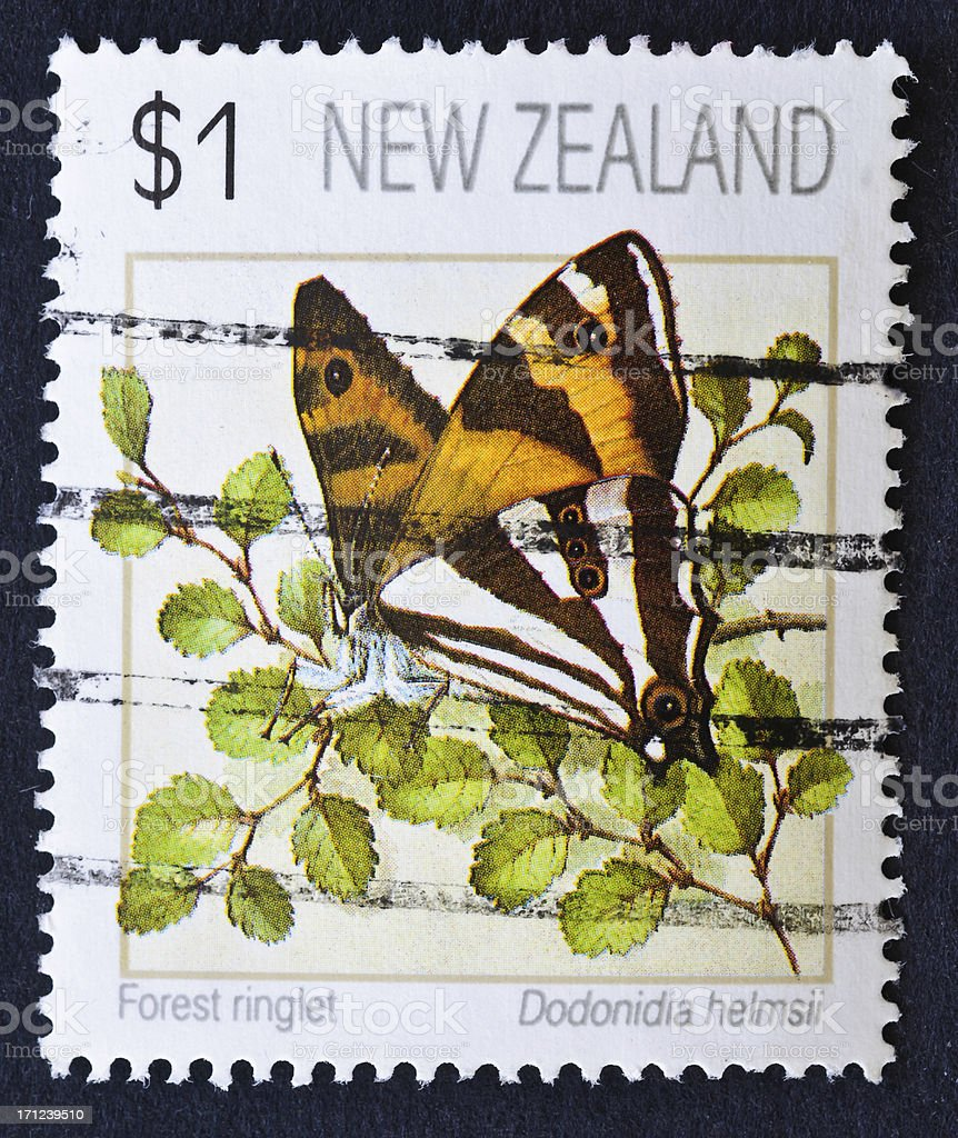 Forest Ringlet Stamp stock photo