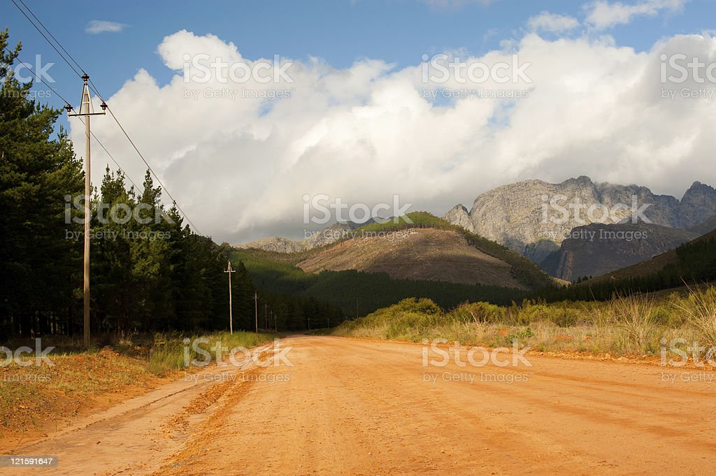forest road landscape stock photo