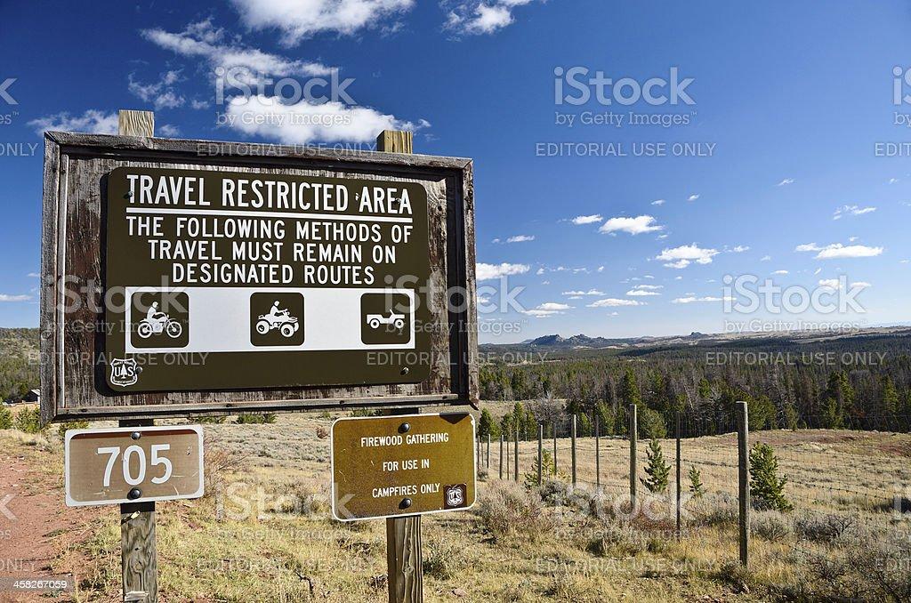 US Forest Service, Laramie, Wyoming stock photo