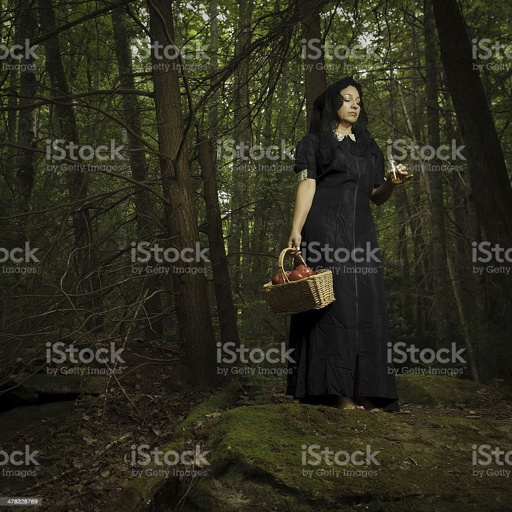 forest witch royalty-free stock photo