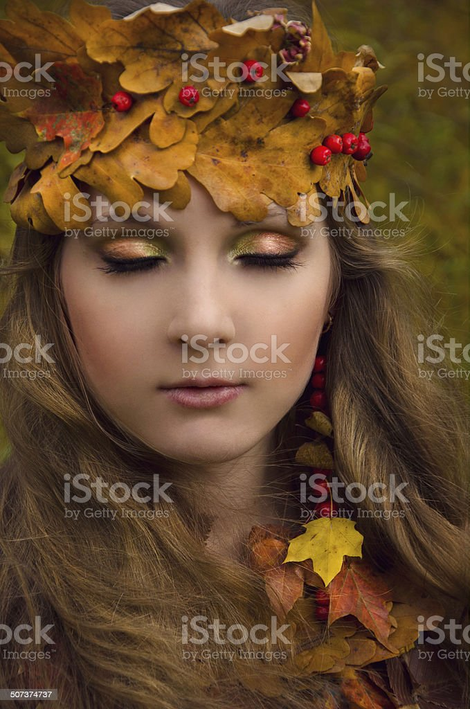 forest witch stock photo