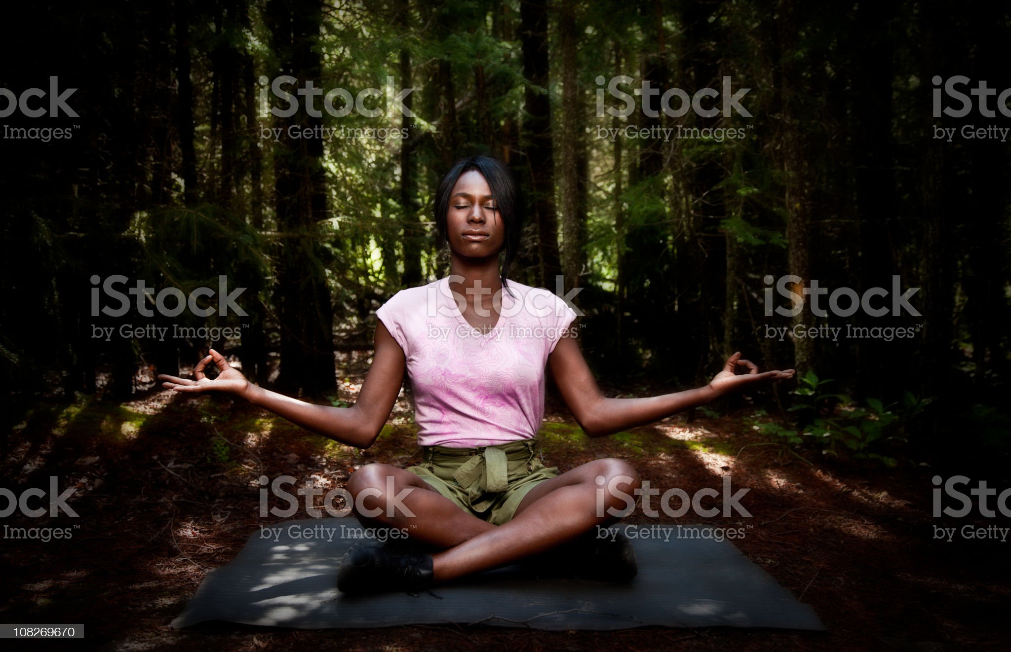 Forest Yoga | HQ lypse royalty-free stock photo