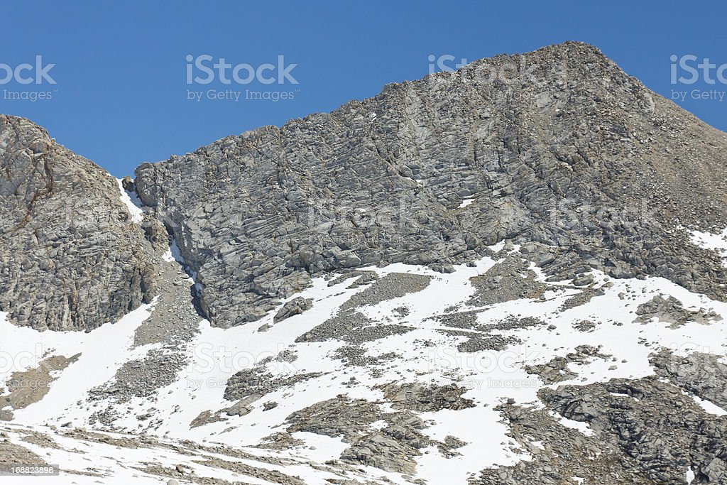 Forester Pass in the High Sierra stock photo